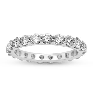 18K White Gold 2 Carat Diamond Eternity Band (H, VS)