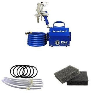 Fuji 2 Semi-PRO 2 Gravity HVLP Spray System + Gravity Cup + Turbine Filters
