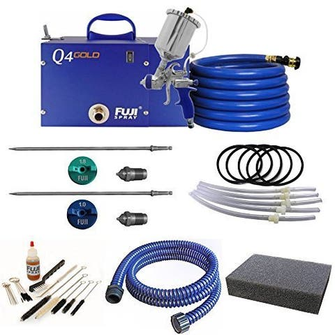 Fuji Q4 Quiet HVLP Spray System with Fuji 600CC Gravity Cup Kit and Accessory