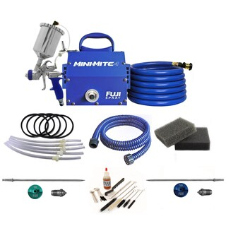 Fuji Mini-Mite 4 Gravity HVLP Spray System w/ Cup Parts Kit & Accessory Bundle