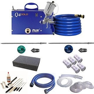 Fuji Q4 Quiet HVLP Spray System with Fuji Aircap Set #5 and Accessory Bundle