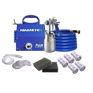 Fuji Mini-Mite Spray System w/ Cups Kit + Turbine Filters & Nylon Strainers (5)