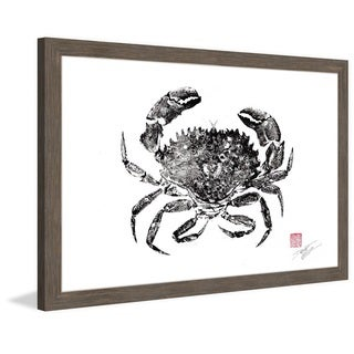Marmont Hill - 'Rock Crab' by Dwight Hwang Framed Painting Print