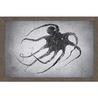 Marmont Hill - 'Octo Up' by Dwight Hwang Framed Painting Print
