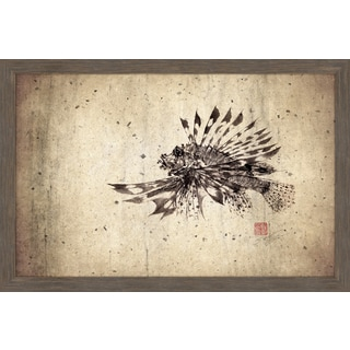 Marmont Hill - 'Lionfish' by Dwight Hwang Framed Painting Print