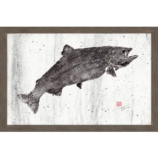 Marmont Hill - 'King Salmon II' by Dwight Hwang Framed Painting Print