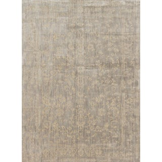 Lucca Floral Stone/ Ivory Rug (2'7 x 4')