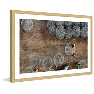 Marmont Hill - 'Jellyfish Rings' by Shoayb Hesham Framed Painting Print