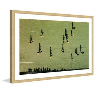 Marmont Hill - 'Soccer' by Karolis Janulis Framed Painting Print