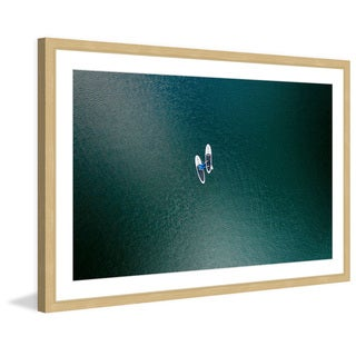 Marmont Hill - 'White Boats' by Karolis Janulis Framed Painting Print
