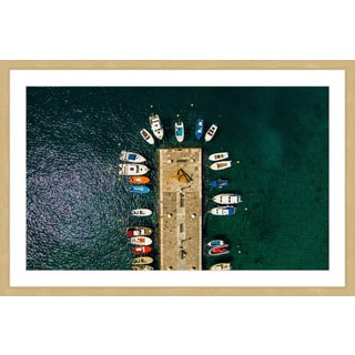 Marmont Hill - 'Boats Docked' by Karolis Janulis Framed Painting Print