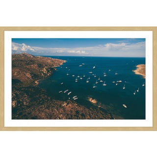 Marmont Hill - 'Sailboats at Sea' by Francesco Cattuto Framed Painting Print
