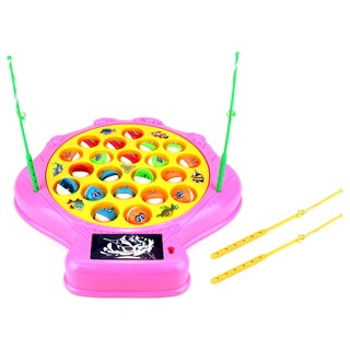 Velocity Toys Deep Sea Shell Battery-operated Rotating Novelty Toy Fishing Game Playset