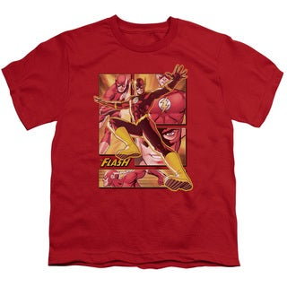JLA/Flash Short Sleeve Youth 18/1 in Red