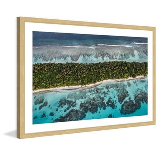 Marmont Hill - 'Big Waves' by Francesco Cattuto Framed Painting Print