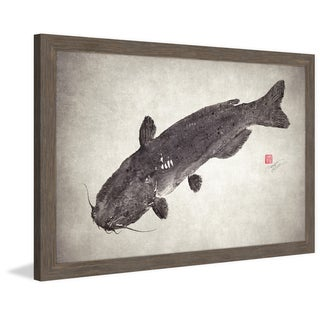 Marmont Hill - 'Catfish' by Dwight Hwang Framed Painting Print