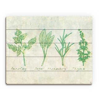 Herbs' Wooden Wall Art