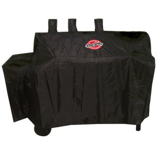 "Char-Griller 8080 60"" X 25"" X 50"" Black Polyester Duo Grill Cover"