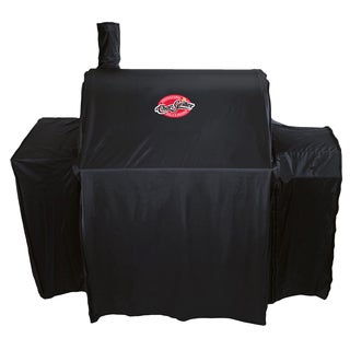 "Char-Griller 5555 29"" X 62"" X 50"" Black Vinyl Smokin' Pro Deluxe Grill Cover"