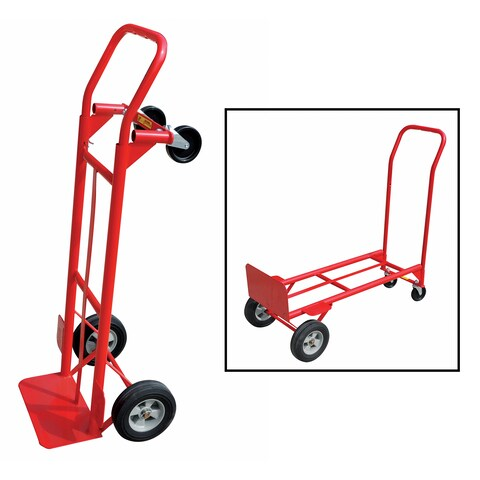 Gleason Industrial 35080 600 Lb Capacity Red Convertible Hand Truck