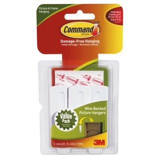 Command Strips 17043 Command Wire Picture Hanging Hooks 3-count