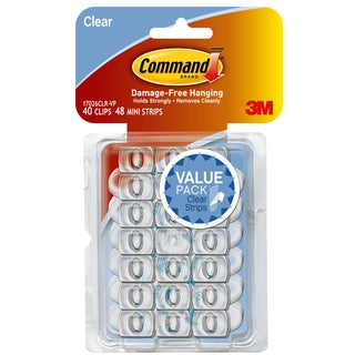 Command Strips 17026CLR-VP Clear Decorating Clips 40-count