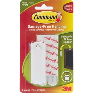 Command Strips 17040 Saw Tooth Picture Hanger With Command Adhesive