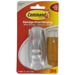 Command Strips 17063BN Large Brushed Nickel Command Timeless Hook