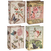 Butterfly Design MDF Book Boxes (Set of 4)