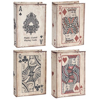 Playing Card Motif Decorative Book Boxes (Pack of 4)