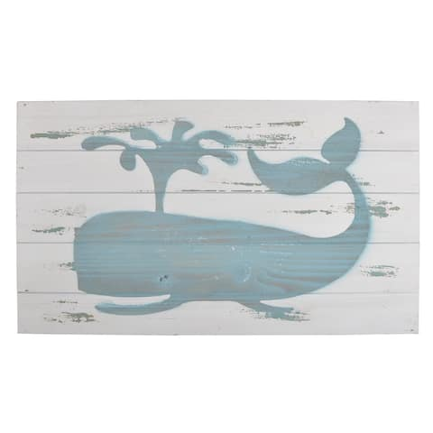 Blue and White Wood Wall Art