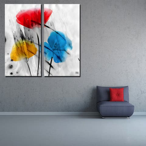 Ready2HangArt 'Painted Petals IIIB' Floral Canvas Wall Art
