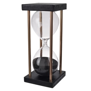 Stanley Black 3-inch D x 7-inch 15-minute Hourglass