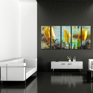 Ready2HangArt 'Painted Petals I' 5-PC Canvas Art Set