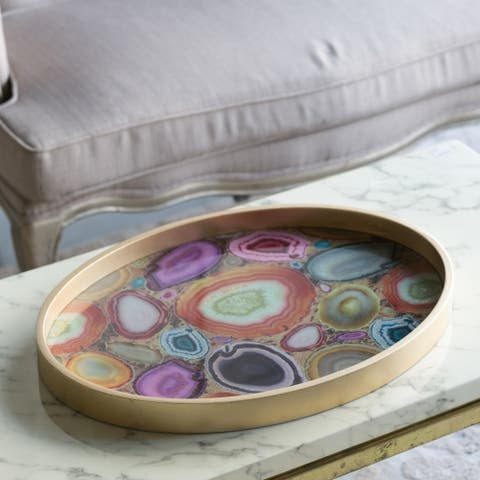 The Curated Nomad Sloan Multicolor Glass Tray