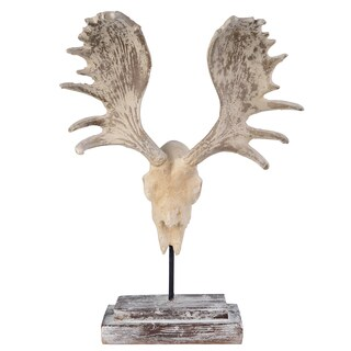 16-inch x 7-inch x 24-inch Moose Antlers Wall Accent Art