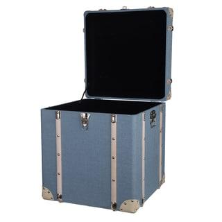 Pale Blue MDF and Linen Kinsley Decorative Storage Trunks (Set of 2)