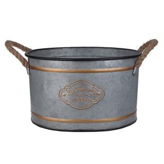Huxley Gold/Grey Metal Decorative Pots (Set of 3)