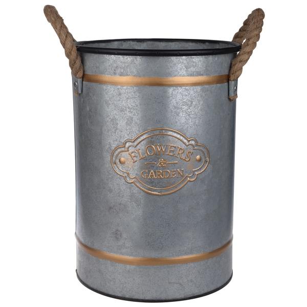 Huxley Grey Metal Decorative Buckets (Set of 3)