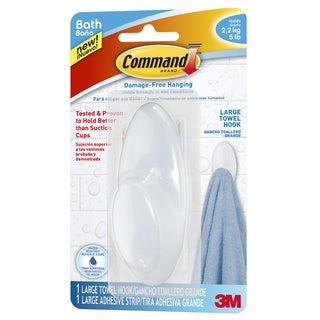 Command Strips BATH17-ES Command Large Frosted Towel Hook