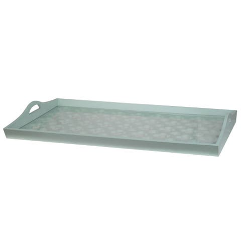 Urban Vogue Teal 28-inch x 16-inch x 3-inch Tray