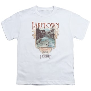 Hobbitlaketown Short Sleeve Youth 18/1 in White