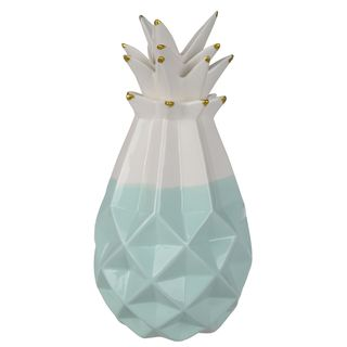 Le Fruit Du Jardin 6.5-inch x 12-inch Mint-colored Decorative Pineapple