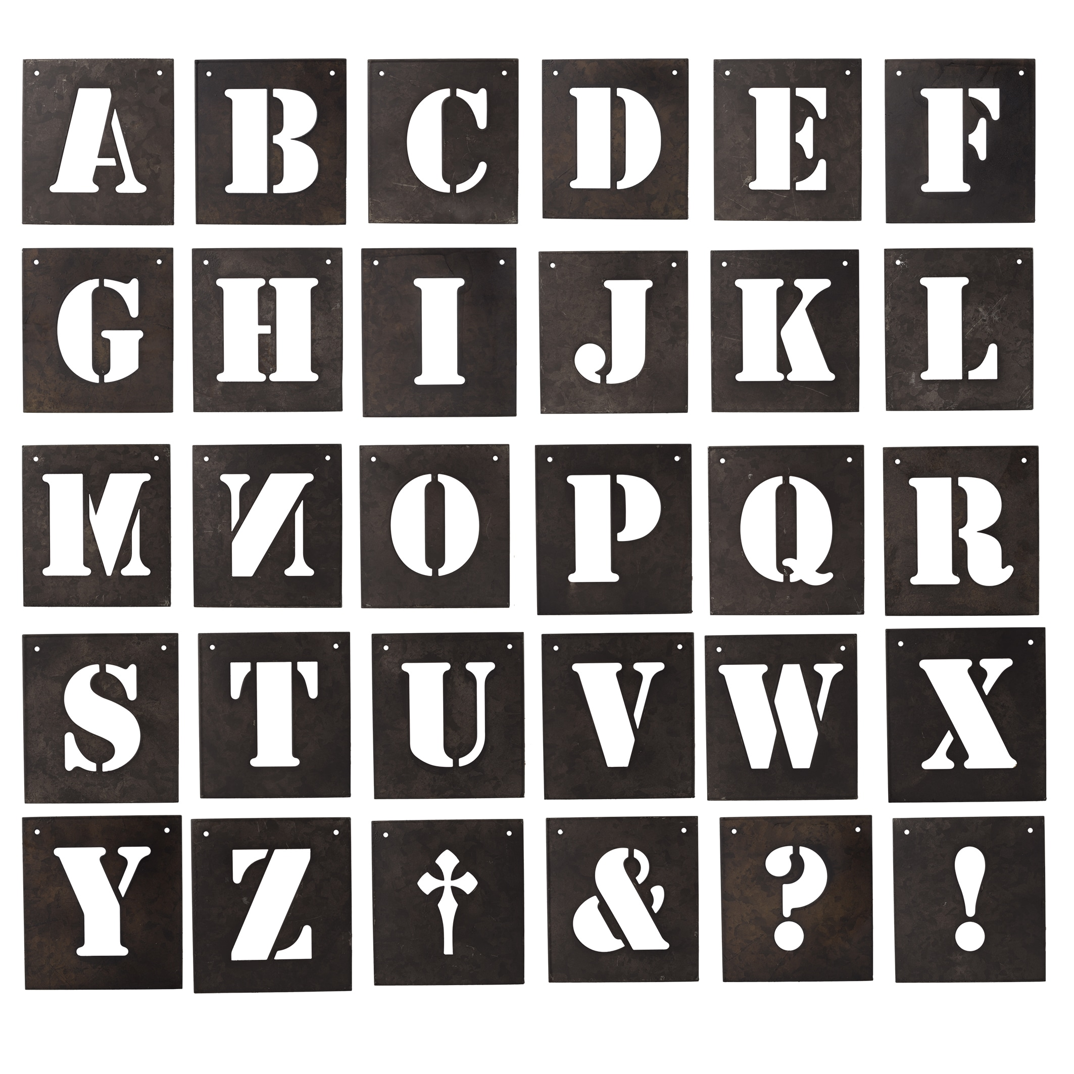 desna black metal letter stencils 30 piece set