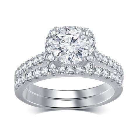 Divina 14k White Gold 2ct TDW Diamond Bridal Set