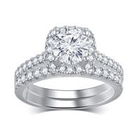 Divina 14k White Gold 2ct TDW Diamond Bridal Set