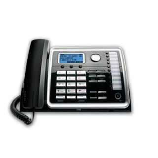 RCA Black Line Desk Phone with Full-Duplex Speakerphone