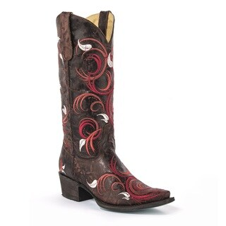 Lane Boots Women's Jeri Ann Brown Leather Cowboy Boots