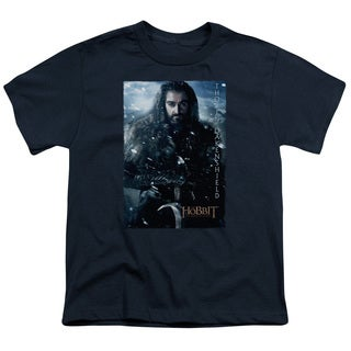 The Hobbit/Thorin Poster Short Sleeve Youth 18/1 Navy