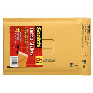 "3M 7913-6 6"" X 9"" Scotch® Bubble Mailers 6 Count"